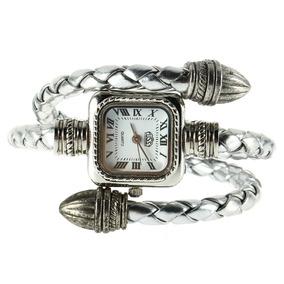 Relógio Feminino Vintage Aço & Couro | 1105