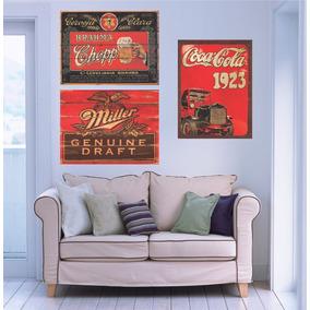 Placas Antigas Vintage Retro Bar Grandes 50 X 70 Cm Em Mdf