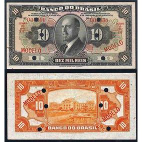 Rc0750 R196m 10 Mil Réis Banco Do Brasil Modelo 1923