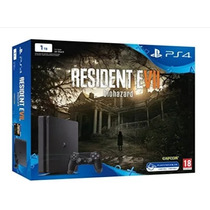 Console Playstation 4 Slim 1tb Ps4 + Residente Evil 7 Lacrad