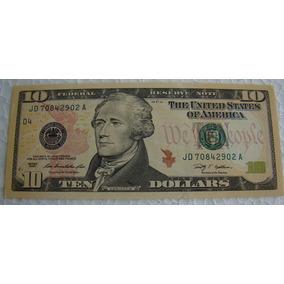 Estados Unidos 1 Cédula Original De 10 Dólares Ano 2009 - Fe