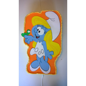 Piñata Pitufina Los Pitufos