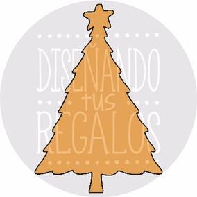 Figura Árbol De Navidad 3.4x5cm. Fibrofacil - Nfe05-009