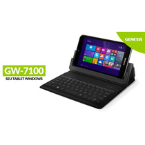 Tablet Genesis Gw-7100 Quad Core Windows 8.1 Capa Teclado