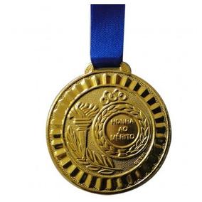 Medalha Esportiva Honra Ao Mérito 35 Mm Ouro, Prata E Bronze