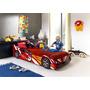 Cama Auto De Niño De 1 Plaza Color Rojo - Ikean