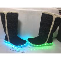 Botas Tenis Zapato Led Luminosas Recargables Rgb Usb Envio