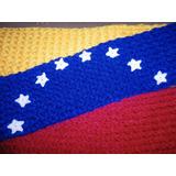 Bufanda Tejida A Mano. Tricolor. Nueva. Regalo