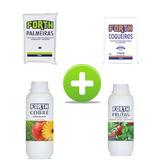 Kit 3 Adubos Fertilizantes + Defensivo Cobre P/ Hortas Mudas