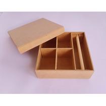 Caixa 15x15x5 Porta Joia - Mdf - Cru - Lembrancinhas