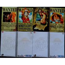 Libreta One Piece Luffy Cuaderno Varios Modelos