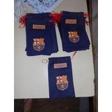 12 Bolsitas De Tnt Personalizadas Del Club Barcelona 25x15