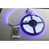 Rollo Tira De 300 Leds 5050 Rgb Para Interior No Silicon