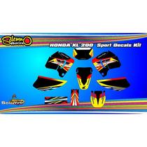 Kit Calcos Honda Xl 200 Con Laminado 3m Grueso Satinado