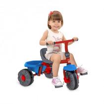 Triciclo Smart Plus Vermelho Azul 280 Bandeirante Velotrol