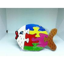 Quebra Cabeça Peixe Brinquedo Infantil Madeira Mdf (fp)