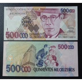 Brasil Billete 500 Cruzeiros Reais Unc 1993 (resellado)