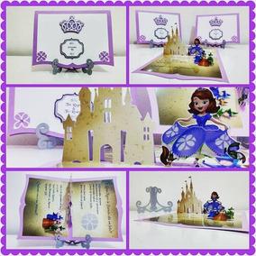 Arquivo De Corte Convite Pop Up Princesa Sofia