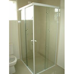 Box P Banheiro, Vidro Temperado 8mm, Incolor, (tipo Blindex)