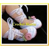 Zapatos Tejidos Para Bebes Niñas 0-12 Meses Huaraches