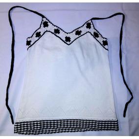Hermosa Blusa Tejida Blanca Con Negro Envio Gratis