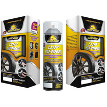 Spray Dip Shine Envelopamento Liquido Autoshine Rodas Preto