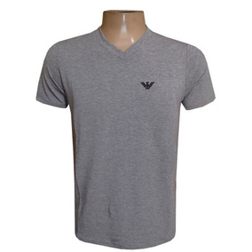 Camiseta Armani Camisa Gola V Cinza
