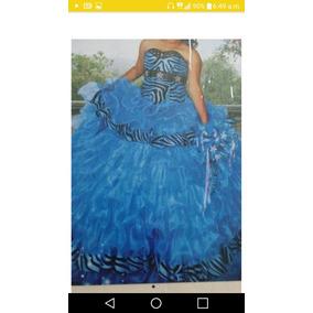 Vestido De Xv Años Azul Turqueza
