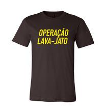 Camiseta Operação Lava-jato - Unisex - Preta
