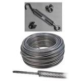 Combo Cable Acero Forrado 100mt Precinto Tensor Prensacables