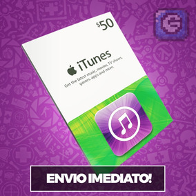 Itunes Gift Card De $50 Dólares Usa - Ipod/iphone/ipad/imac
