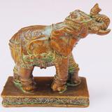 Estatueta Indiana Elefante Da Sorte Resina Objeto Antigo