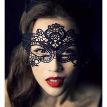 300 Pzas Antifaz Encaje Negro Disfraz Sexy Mascara Carnaval