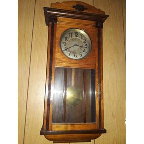 Reloj Antiguo Marca Jughans Aleman Pendular Una Joya P/enten