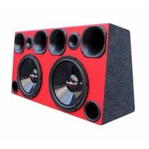 Caixa Som Automotiva Subwoofer 12 + 4 Cornetas + 2 Tweeter