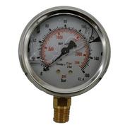 Manometro Pressão Hidráulico 160 Bar 2300 Psi Vertical