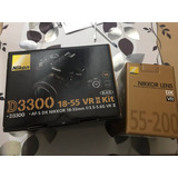Cámara Nikon D3300 + Lente 55-200mm