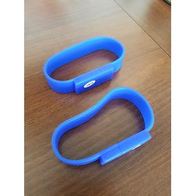 Kit 10 Pen Drive 2gb Pulseira Cor Azul