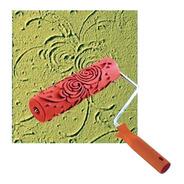 Rolo Para Textura Com Suporte 18cm Efeito Rosas