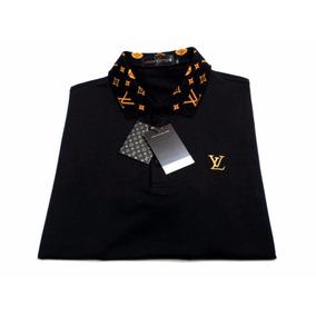 Camisa Pólo Louis Vuitton Personalizada Algodão 100 %