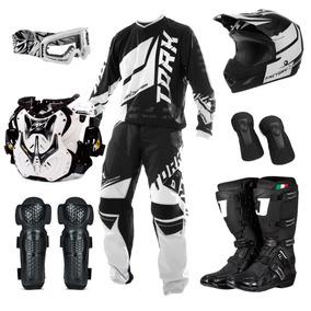 Kit Equipamento Moto Cross Protork Factory Edition