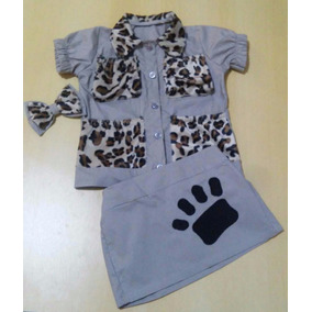 Fantasia Infantil De Menina Tema Safari