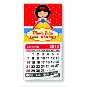 20 Mini Calendários Personalizado Ímã Geladeira Jan/dez 2018