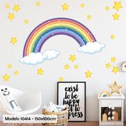 Vinilo Decorativo Infantil Pack Arcoiris Estrellas M10414