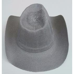 Kit C/4 Chapeu Country Cowboy Sintetico Fantasia Cor Cinza
