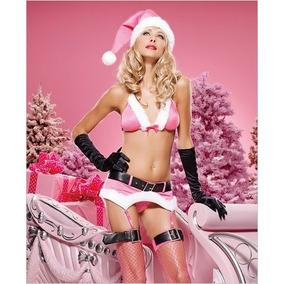 Sexy Disfraz Santa Clous Leg Avenue Rosa Y Blanco