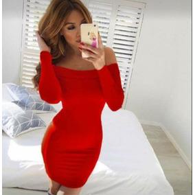 0428929ed2 Vestidos Lycra Pegados - Vestidos de Mujer Rojo en Mercado Libre México