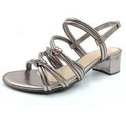 Sandália Sapato Feminino Madare Ts8857-2908 Cinza Antigo