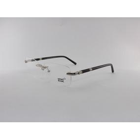 Armação P/ Óculos De Grau Mont Blanc Sem Aro Preto Mb476