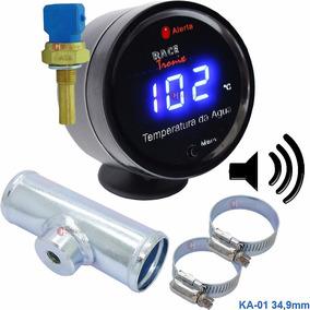 Kit Medidor Temperatura Digital Sensor Água Radiador Motor 1